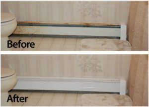 covering a heater versus cleaning a heater